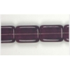 Glass Bead Bricks 16x12mm Amethyst - Strung